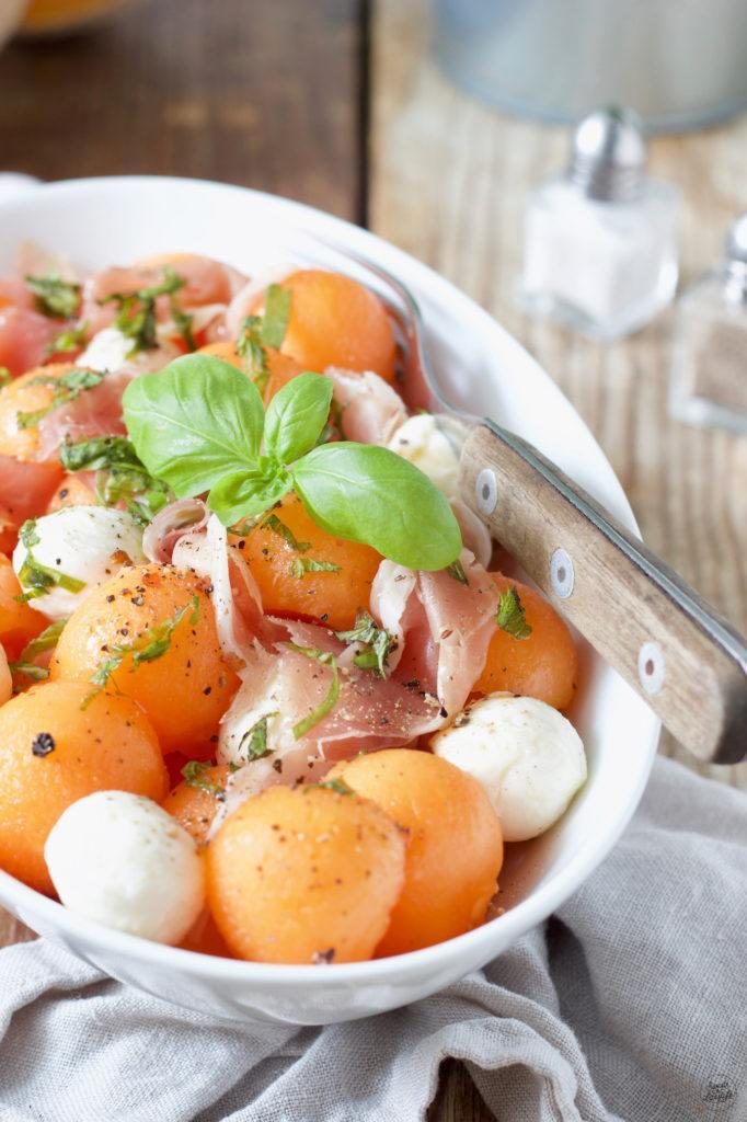 Melonensalat mit Rohschinken und Mozzarella von Sweets & Lifestyle®