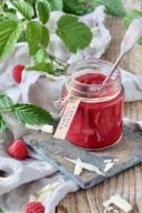 Rezept für eine Himbeermarmelade mit weißer Schokolade von Sweets & Lifestyle®
