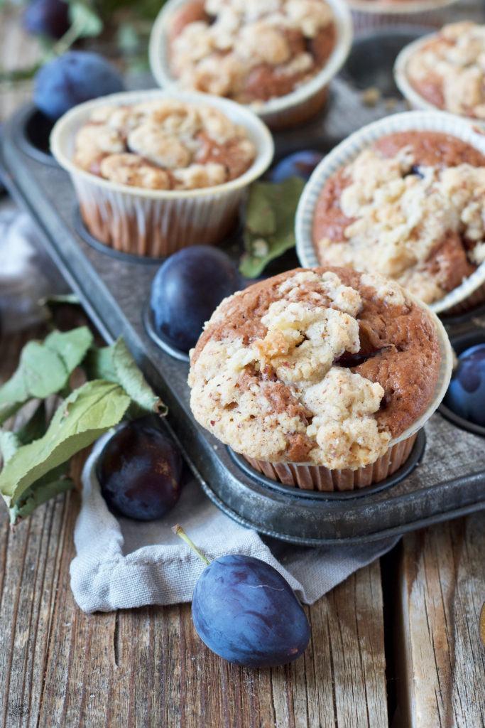 Saftige Zwetschken Schoko Muffins mit Streusel von Sweets & Lifestyle®