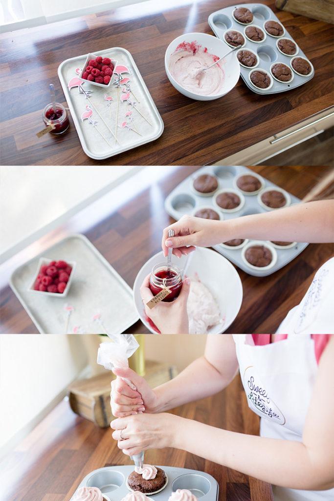 Leckeres Schoko Himbeer Cupcakes Rezept von Sweets & Lifestyle®