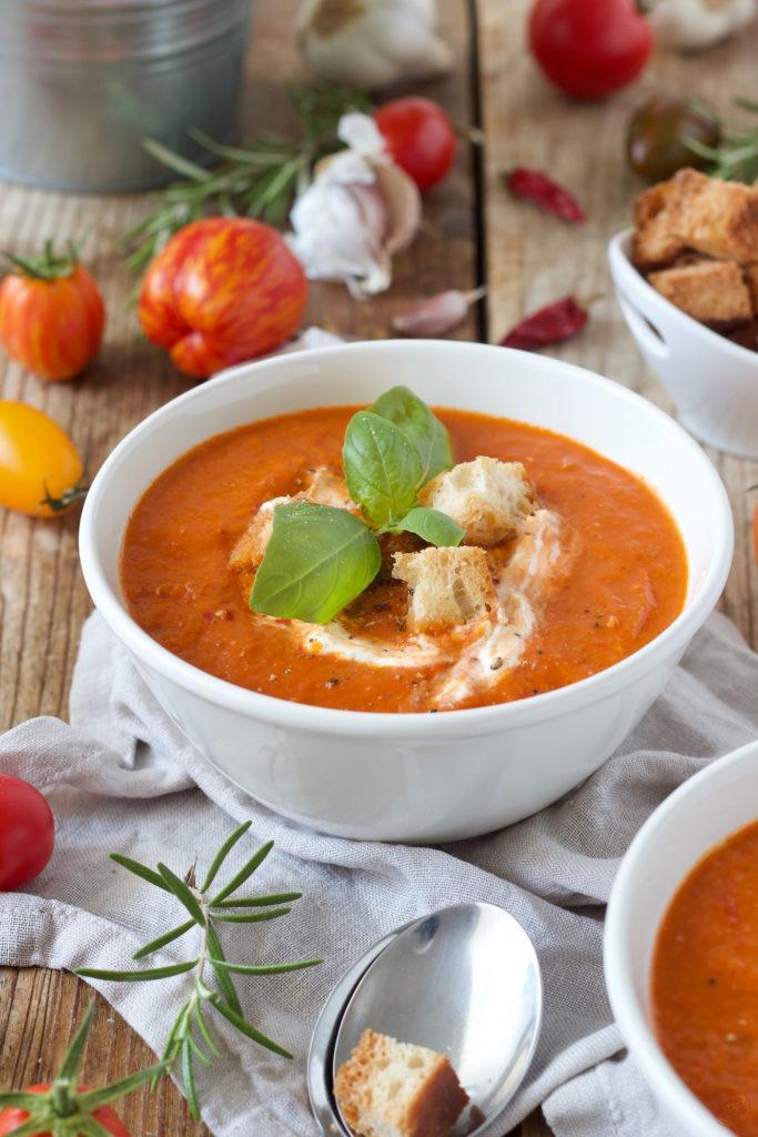Tomatensuppe aus frischen Tomaten nach einem Rezept von Sweets & Lifestyle®