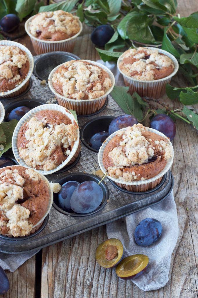 Zwetschken Schokomuffins mit Streusel nach einem Rezept von Sweets & Lifestyle®