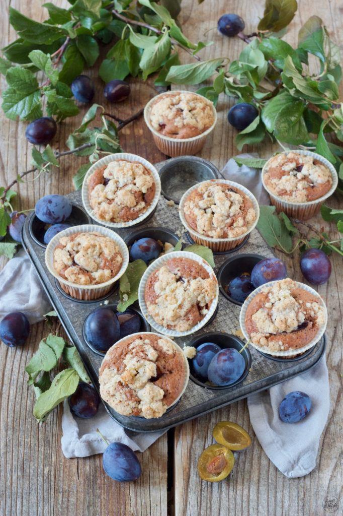 Zwetschken Schokomuffins Rezept mit Streusel von Sweets & Lifestyle®