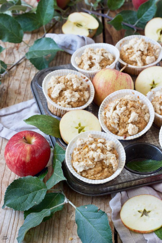 Apfel-Haferflocken-Muffins mit Apfelmus gemacht nach einem Rezept von Sweets & Lifestyle®