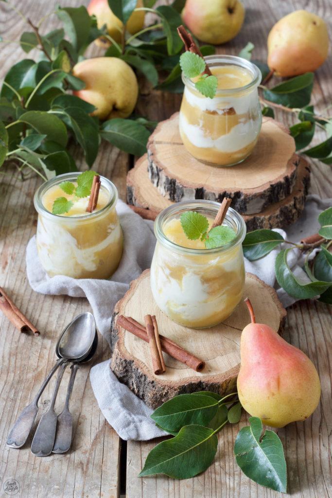 Birnen Tiramisu als Birnen Dessert im Glas serviert von Sweets & Lifestyle®