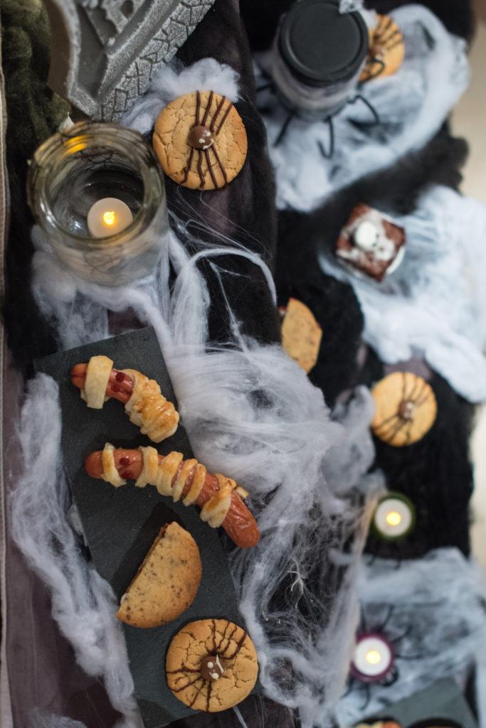 Fertige Snackideen für Halloween gemacht beim Halloween Back-Workshop für Kinder von Verena von Sweets & Lifestyle®