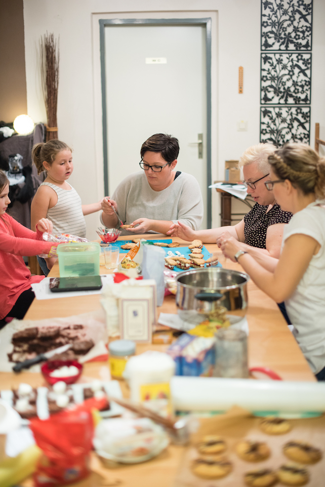 Gebiss Cookies Herstellung beim Halloween Back-Workshop für Kinder von Sweets & Lifestyle®