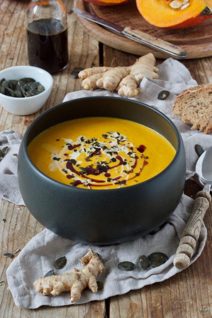 Rezept für eine Kürbissuppe mit Ingwer von Sweets & Lifestyle®