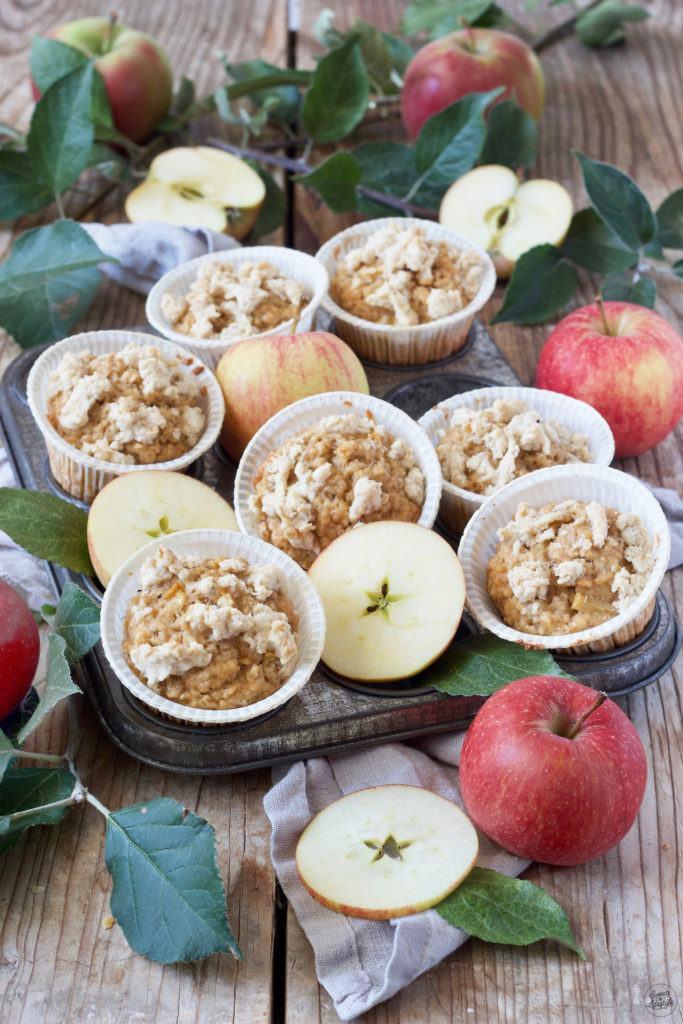 Leckere Apfel-Haferflocken-Muffins nach einem Rezept vonSweets & Lifestyle®