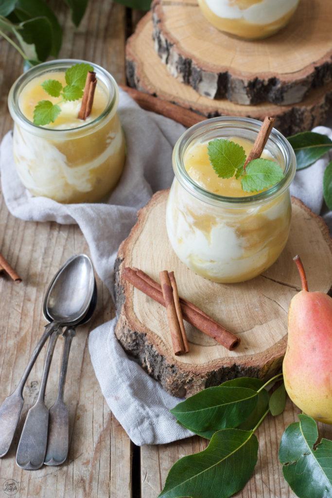 Leckeres Birnen Tiramisu als Dessert im Glas serviert von Sweets & Lifestyle®