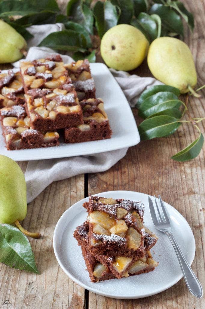Saftiger Schoko Birnenkuchen nach einem Rezept von Sweets & Lifestyle®