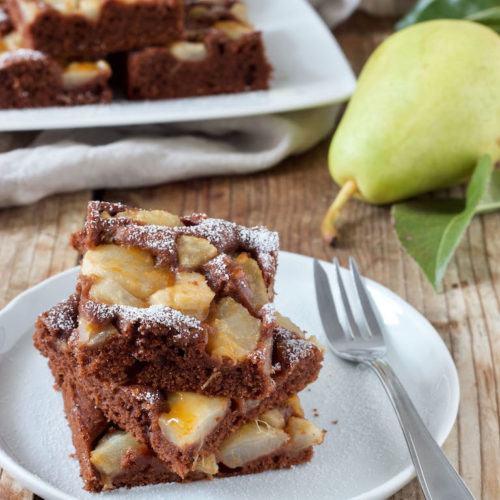 Schoko Birnen Kuchen Vom Blech Rezept Sweets Lifestyle
