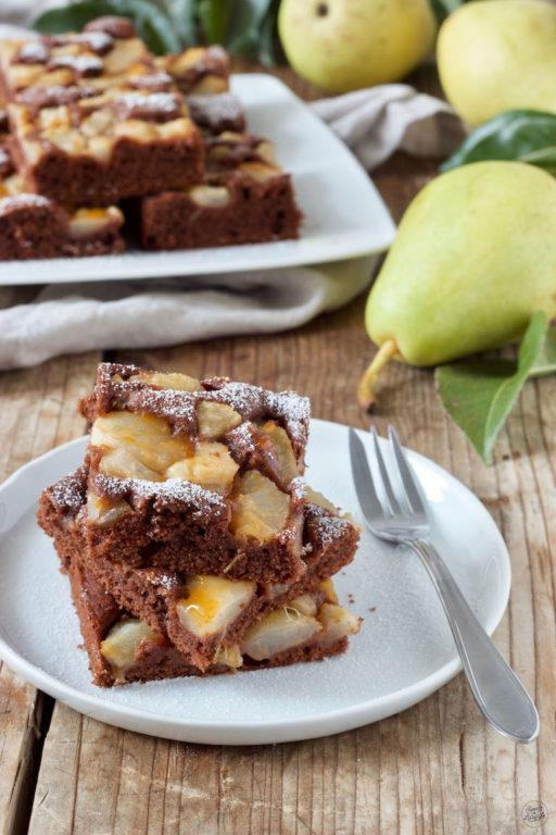 Saftiger Schoko Birnenkuchen vom Blech von Sweets & Lifestyle®