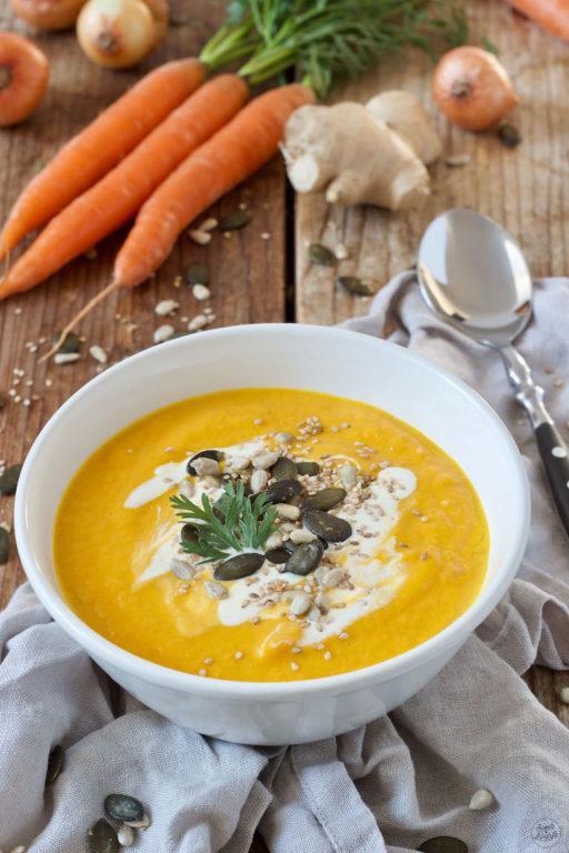 Karotten Ingwer Kokos Suppe nach einem Rezept von Sweets & Lifestyle®