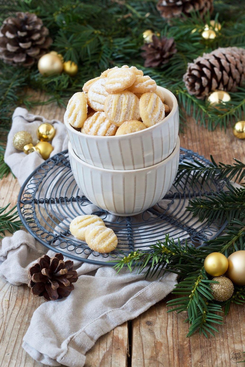 Schnelle Weihnachtskekse.Puddingplätzchen