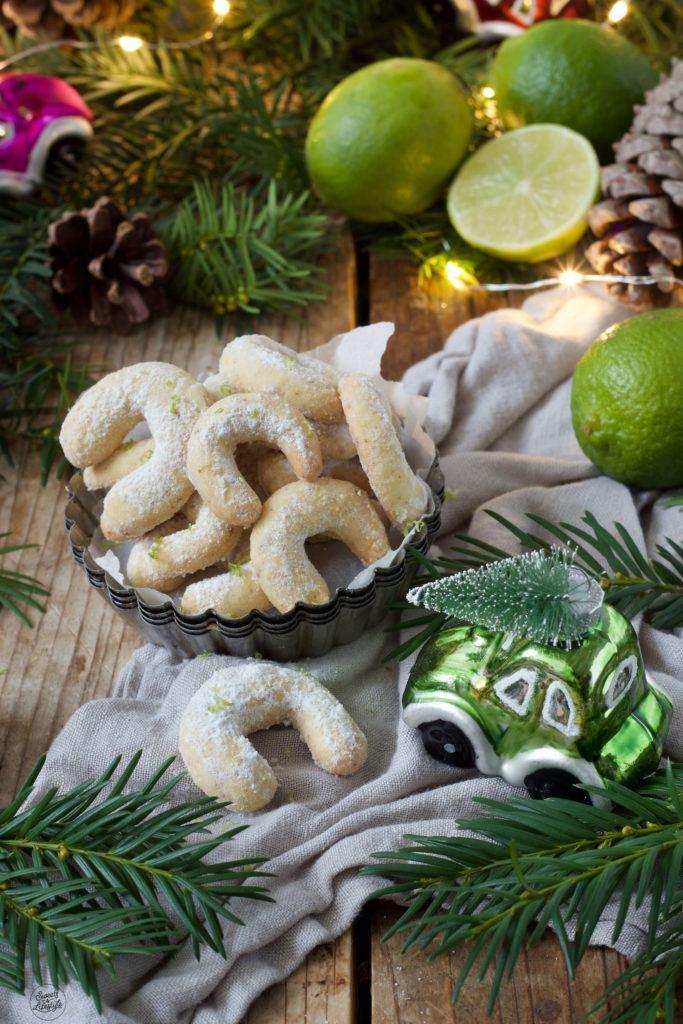 Leckere Limettenkipferl mit Mandeln nach einem Rezept von Sweets & Lifestyle®