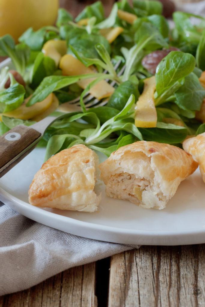 Quitten-Maroni-Ziegekäse-Füllung in den Blätterteigtaschen von Sweets & Lifestyle®