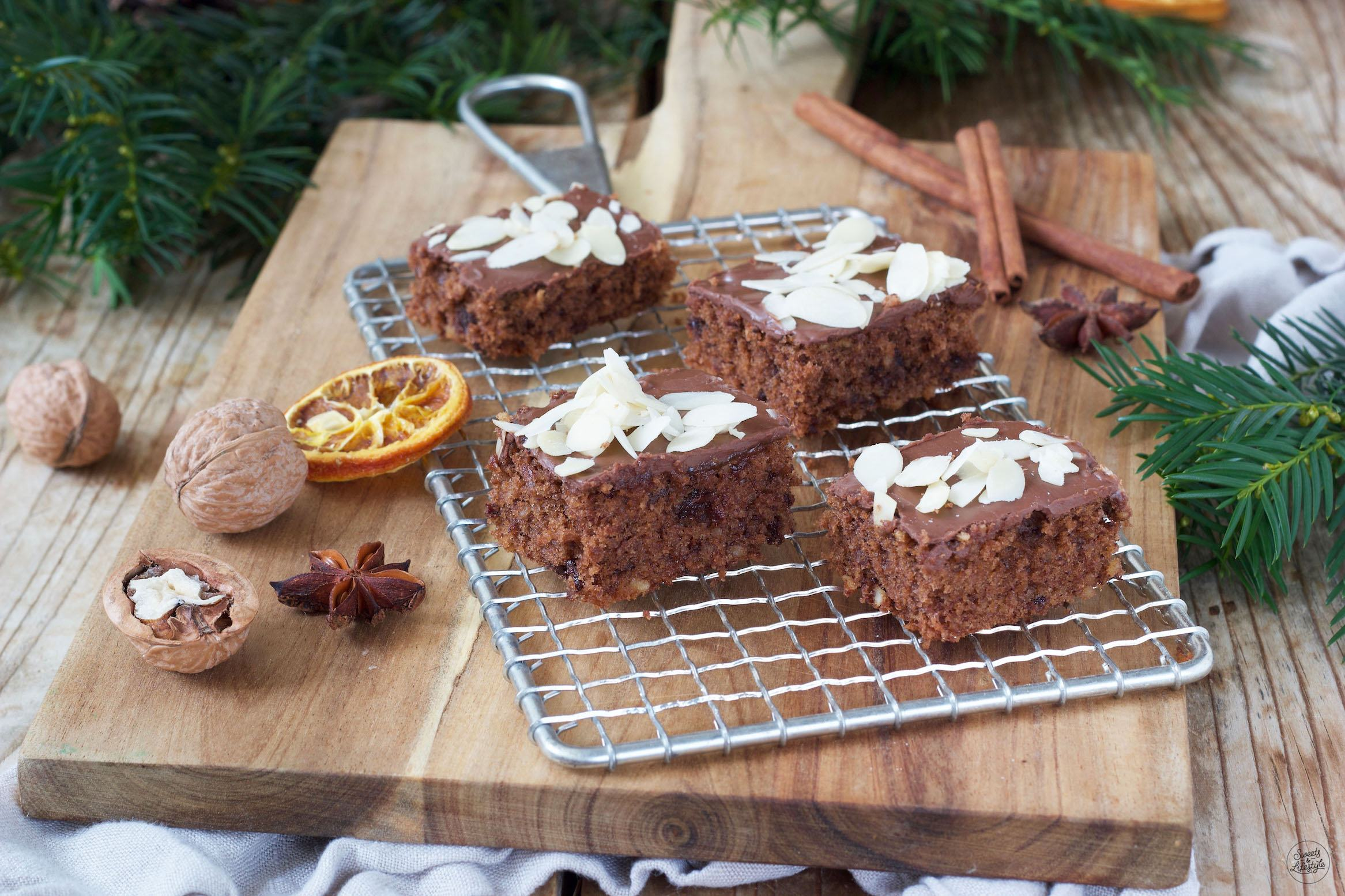 Schokolebkuchen Vom Blech Rezept Sweets Lifestyle