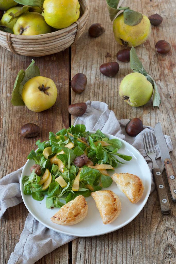 vegetarisch gefüllte Teigtaschen mit Quitte, Maroni und Ziegenkäse nach einem Rezept von Sweets & Lifestyle®