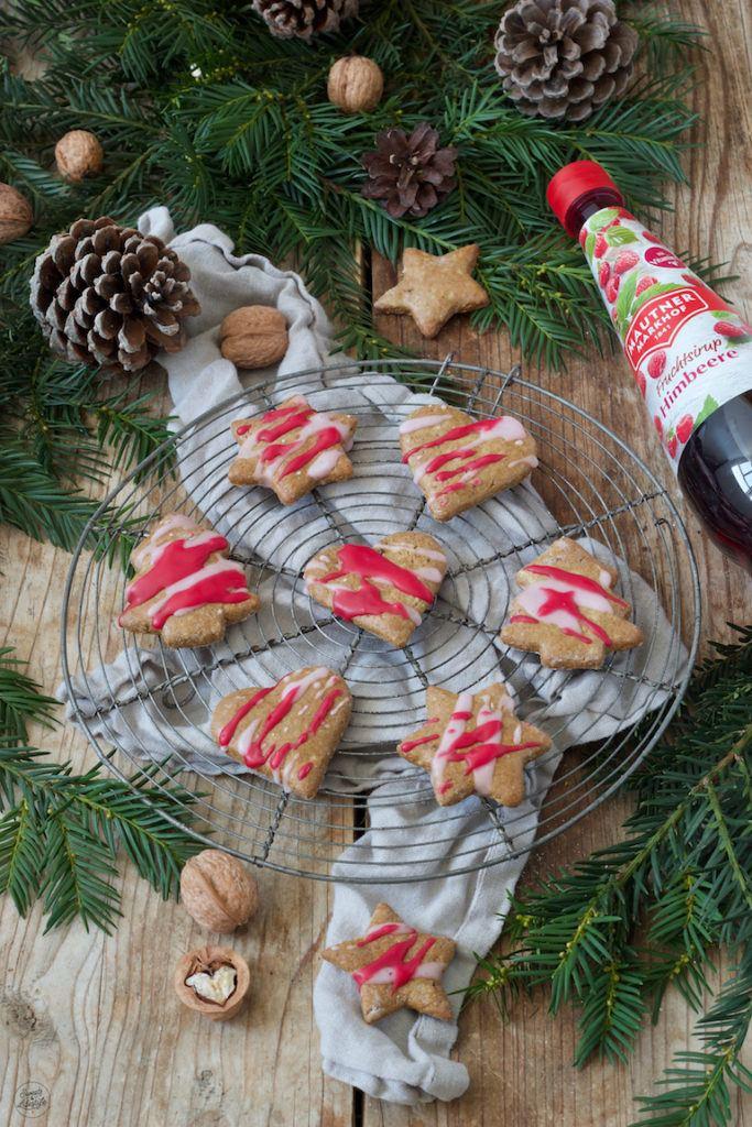 Lebkuchen mit Zuckerglasur aus Mautner Markhof Himbeersirup verziert von Sweets & Lifestyle®