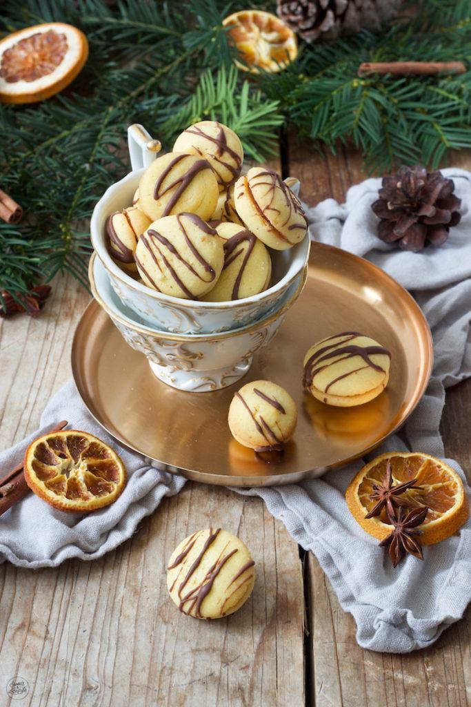 Leckere Orangendukaten als Weihnachtskekse nach einem Rezept von Sweets & Lifestyle®