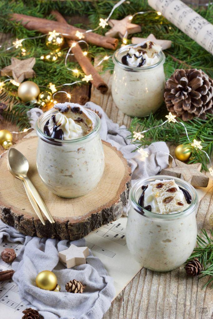 Rezept für ein Stollen Mousse serviert im Glas von Sweets & Lifestyle®