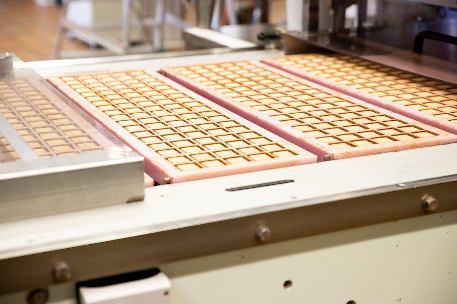 Besichtigung der Schokoladenproduktionsstraße bei Ritter Sport in Waldenbuch