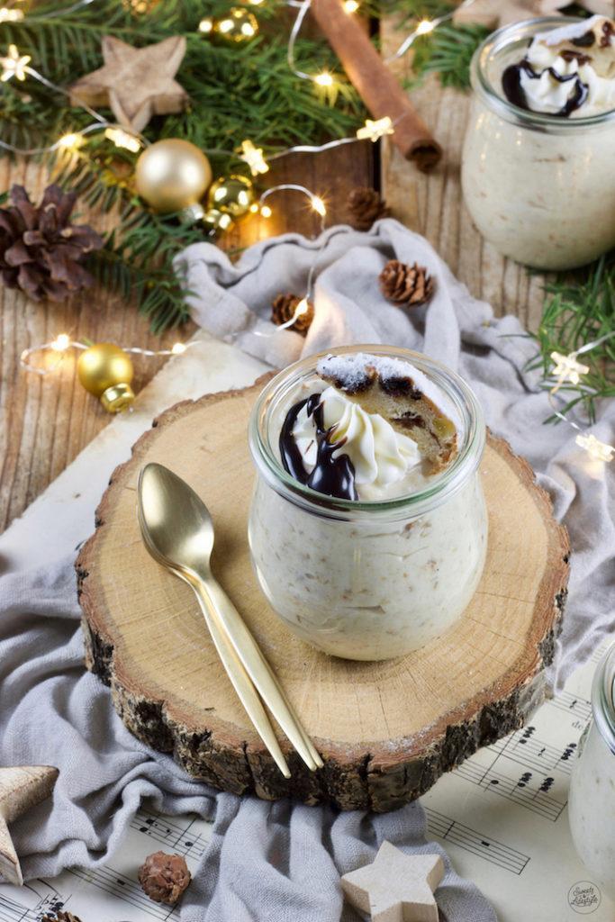 Leckeres Stollenmousse Rezept als Weihnachtsdessert von Sweets & Lifestyle®
