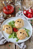 Herzhaft vegetarisch gefüllte Schäfchen für den Kindergeburtstag von Sweets & Lifestyle®️