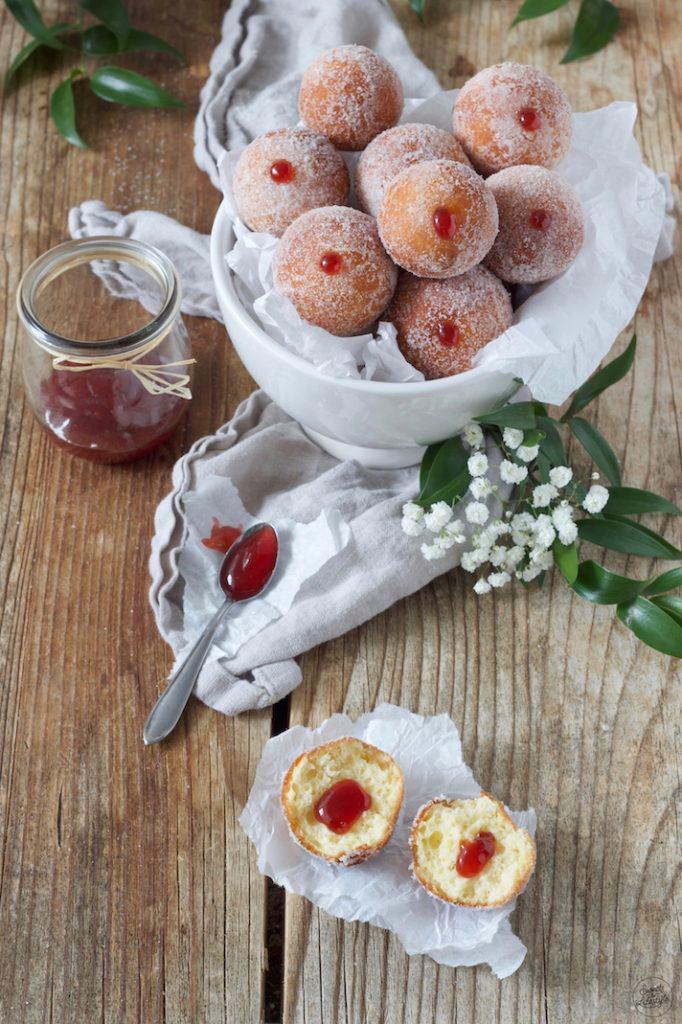 Luftige Quarkbällchen mit selbst gemachter Marmelade gefüllt nach einem Rezept von Sweets & Lifestyle®️