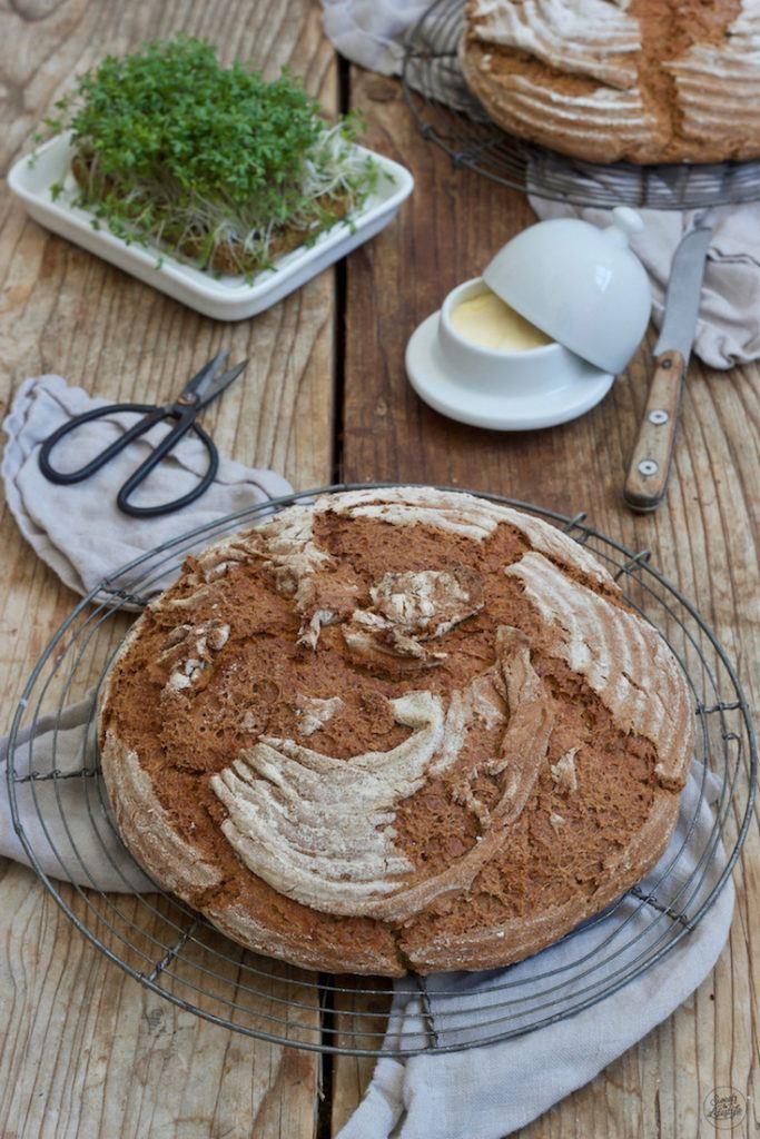 Einfaches Bauernbrot ohne Sauerteig nach einem Rezept von Sweets & Lifestyle®
