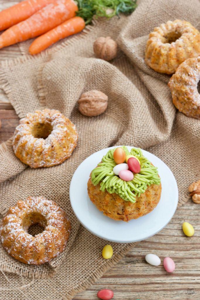 Saftiger veganer Karotten-Minigugelhupf nach einem Rezept von Sweets & Lifestyle®
