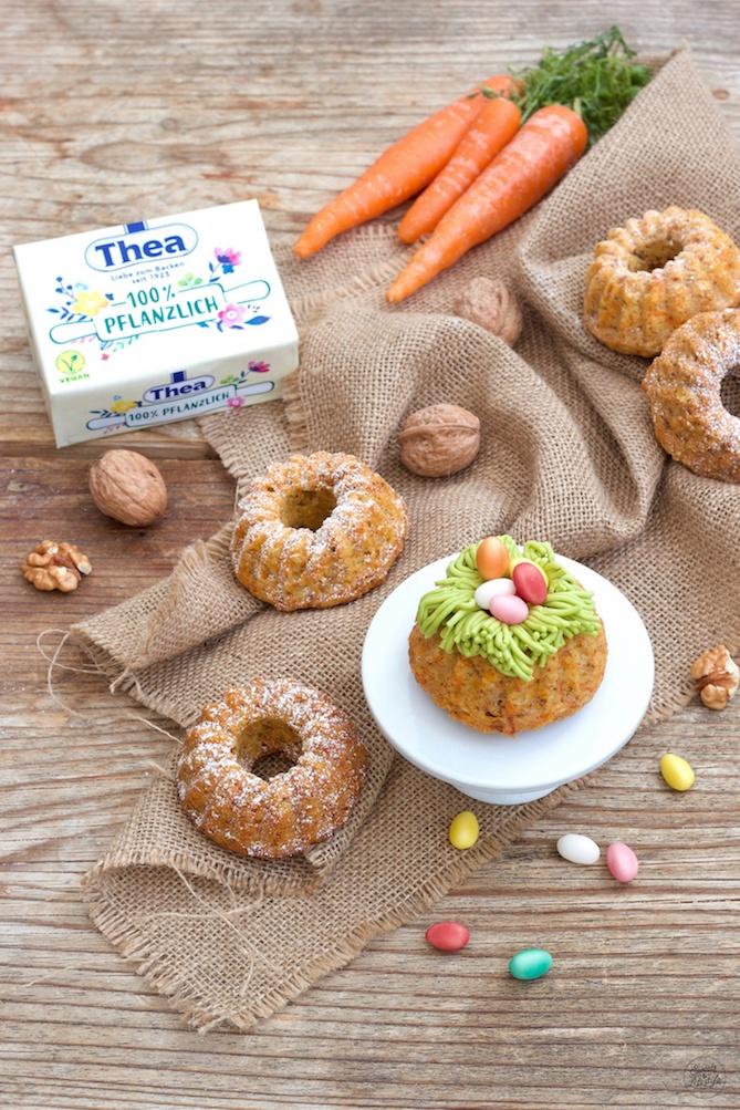 Veganer Karotten-Minigugelhupf nach einem Rezept von Sweets & Lifestyle®