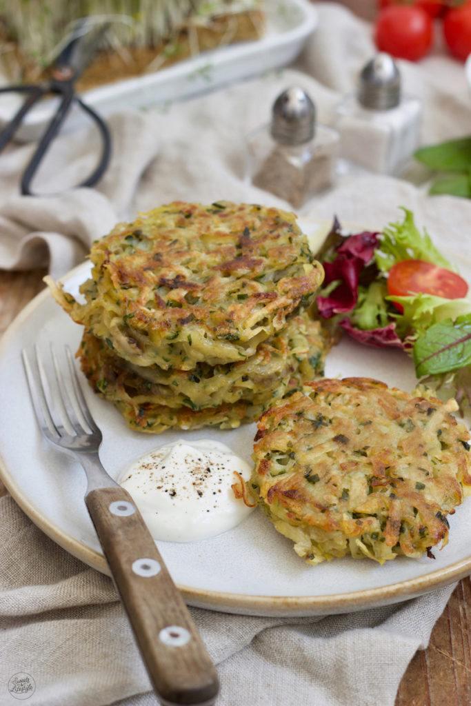 Leckere Bärlauch-Kartoffel-Laibchen nach einem Rezept von Sweets & Lifestyle®
