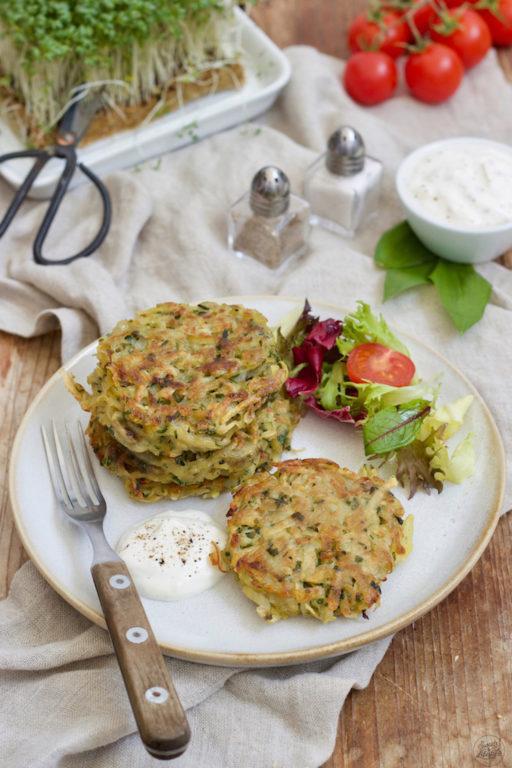 Leckeres Bärlauch-Kartoffel-Puffer-Rezept von Sweets & Lifestyle®