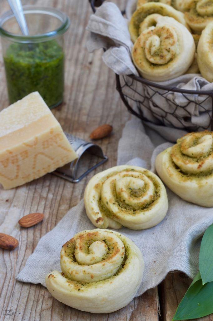 Bärlauchschnecken gemacht mit Bärlauchpesto nach einem Rezept von Sweets & Lifestyle®