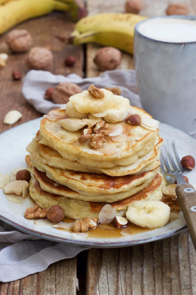 Einfaches Bananen Pancakes Rezept mit Mehl von Sweets & Lifestyle®
