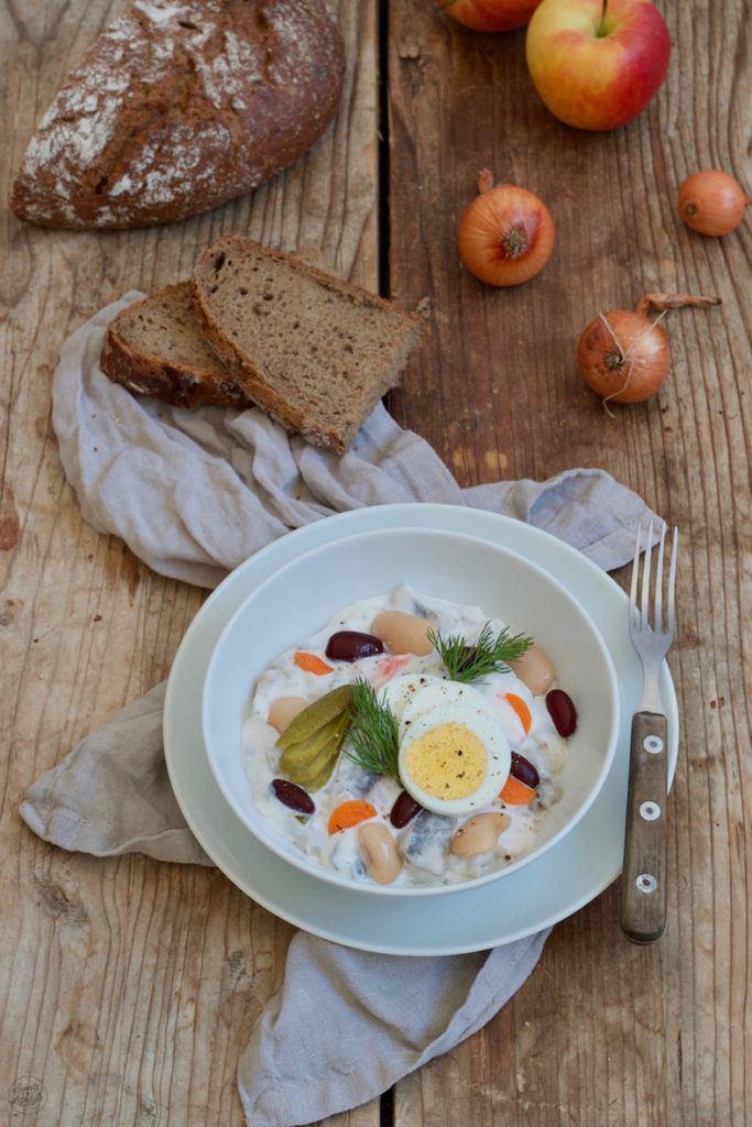 Heringssalat klassisch mit Bohnen nach einem Rezept von Sweets & Lifestyle®