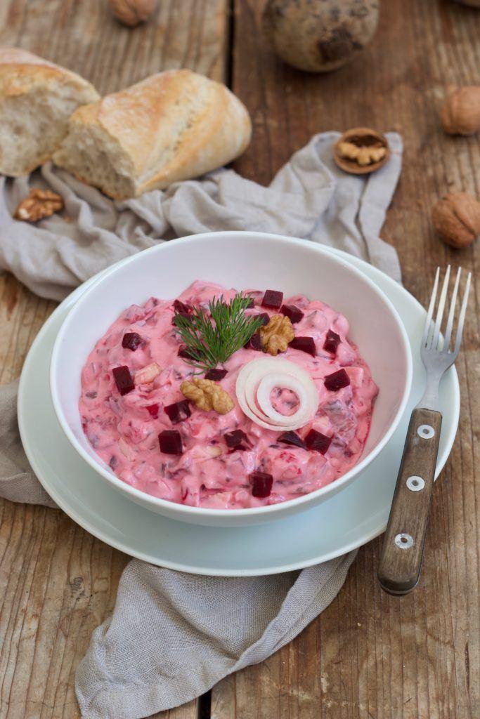 Heringssalat mit Roter Bete, Apfel und Walnüssen nach einem Rezept von Sweets & Lifestyle®