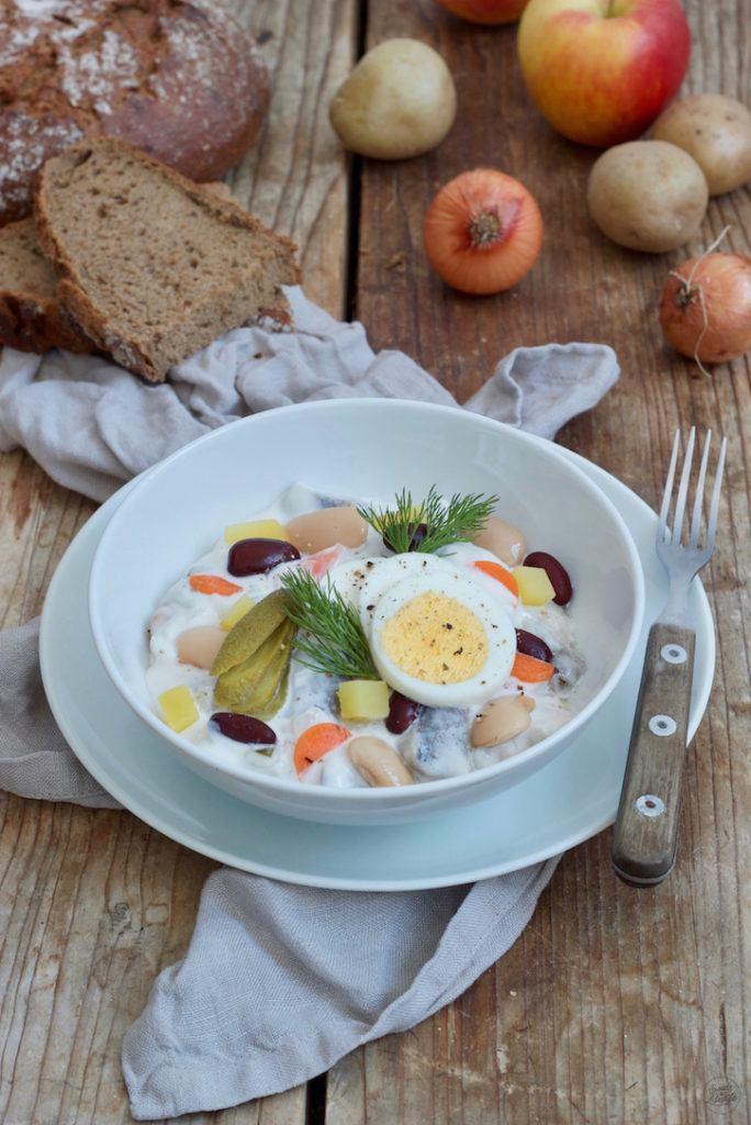 Heringsschmaus klassisch mit Bohnen nach einem Rezept von Sweets & Lifestyle®