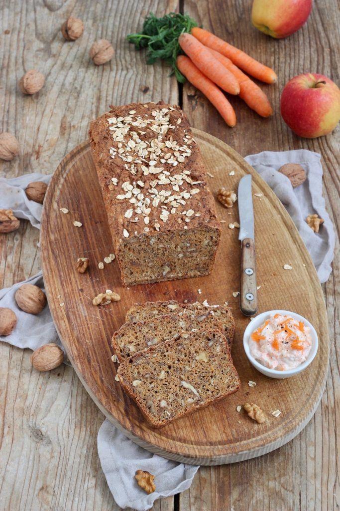Einfaches Karottenbrot mit Karotten-Apfel-Aufstrich nach einem Rezept von Sweets & Lifestyle® schmeckt auch Kindern