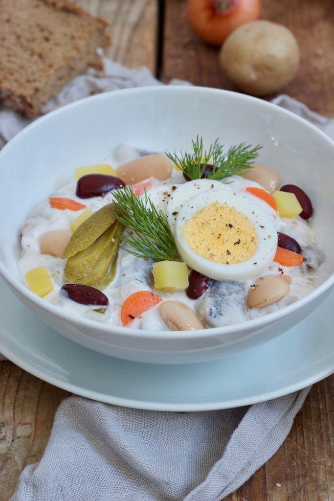Klassischer Heringssalat mit Bohnen nach einem Rezept von Sweets & Lifestyle®