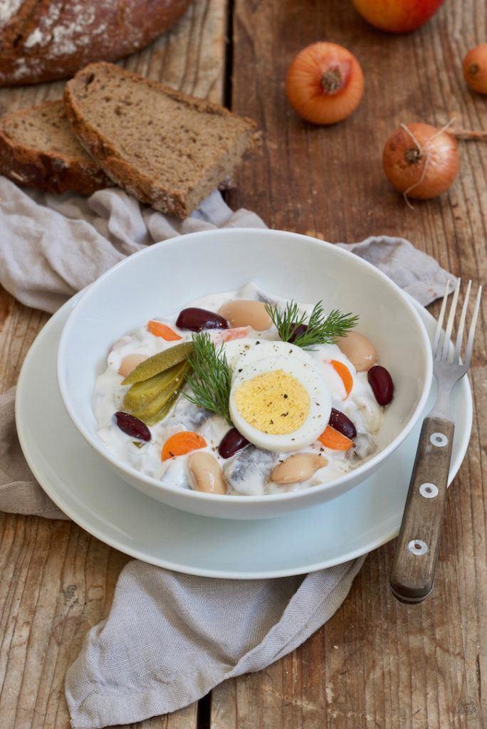 Klassischer Heringsschmaus mit Bohnen nach einem Rezept von Sweets & Lifestyle®