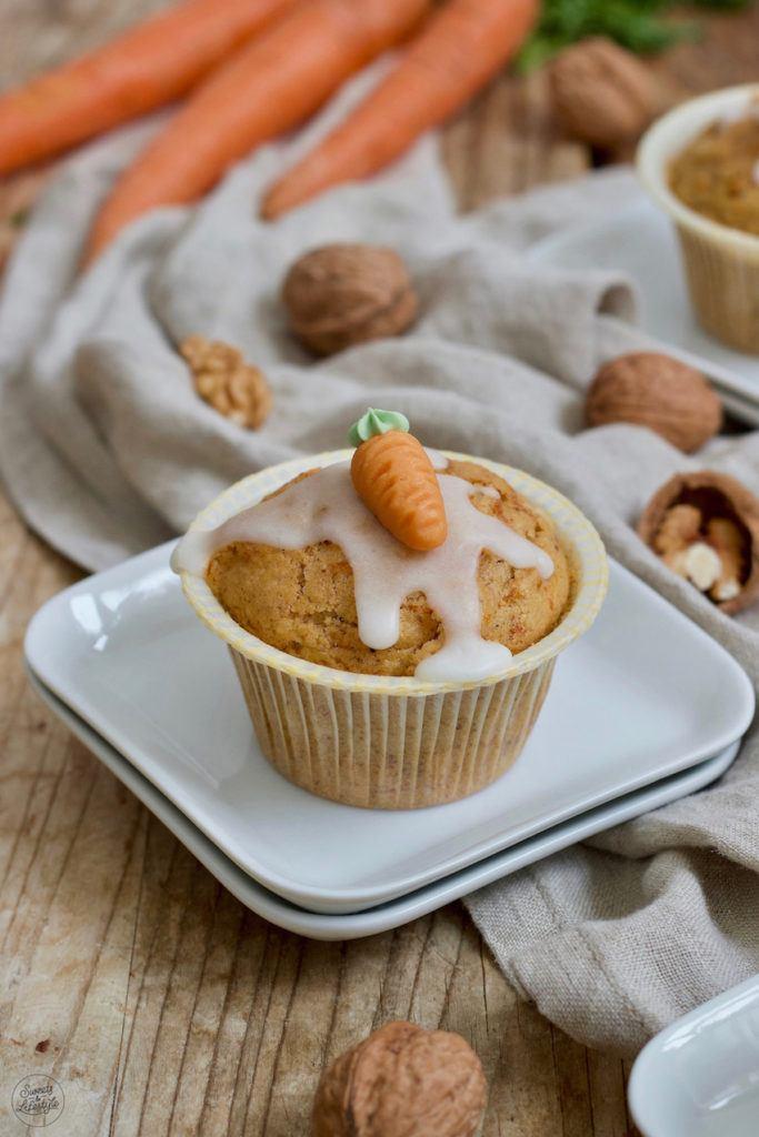 Saftige Karottenmuffins nach einem einfachen Rezept von Sweets & Lifestyle®