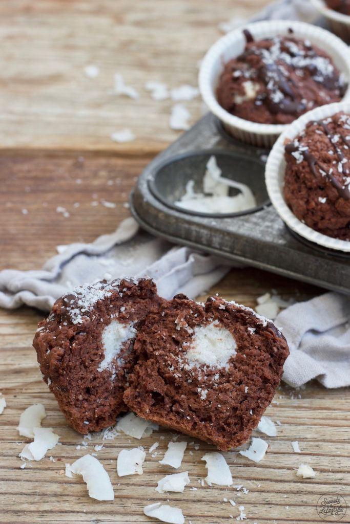 Vegane Schoko-Kokos-Muffins nach einem Rezept von Sweets & Lifestyle®