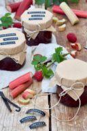 Rezept für eine Rhabarber-Himbeer-Marmelade mit Vanille von Sweets & Lifestyle®