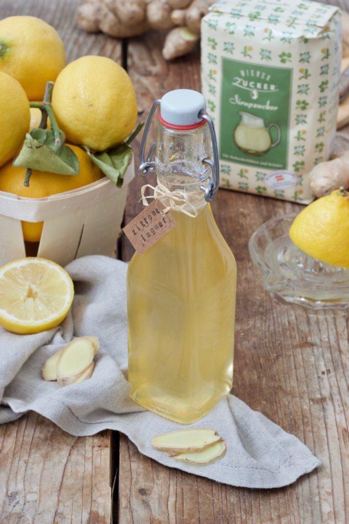 Zitronen-Ingwer-Sirup mit Sirupzucker gemacht nach einem Rezept von Sweets & Lifestyle®