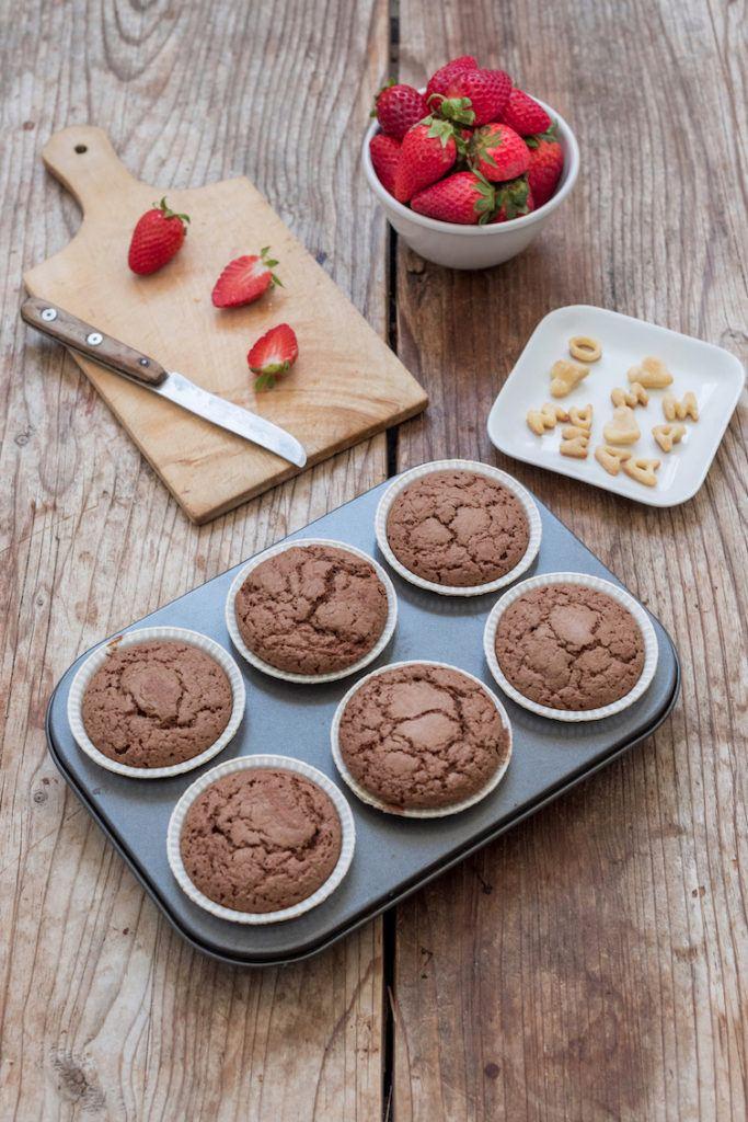 Schokosponges für die Erdbeercupcakes von Sweets & Lifestyle®