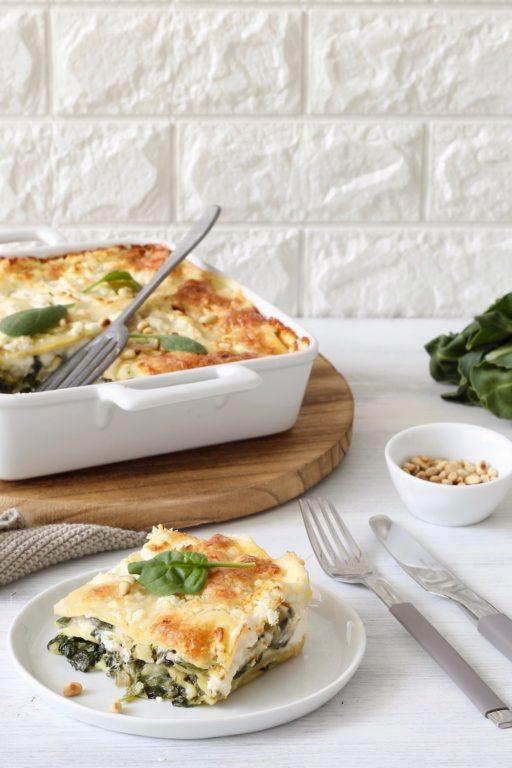Selbst gemachte Mangold-Spinat-Lasagne mit Ziegenkäse nach einem Rezept von Sweets & Lifestyle®