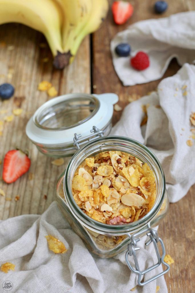 Selbst gemachtes zuckerfreies Knuspermüsli nach einem Rezept von Sweets & Lifestyle®